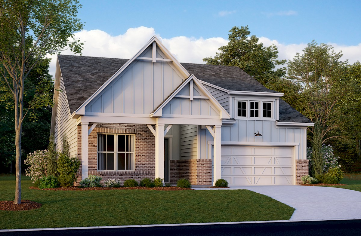 Ranch style home with 2-car garage