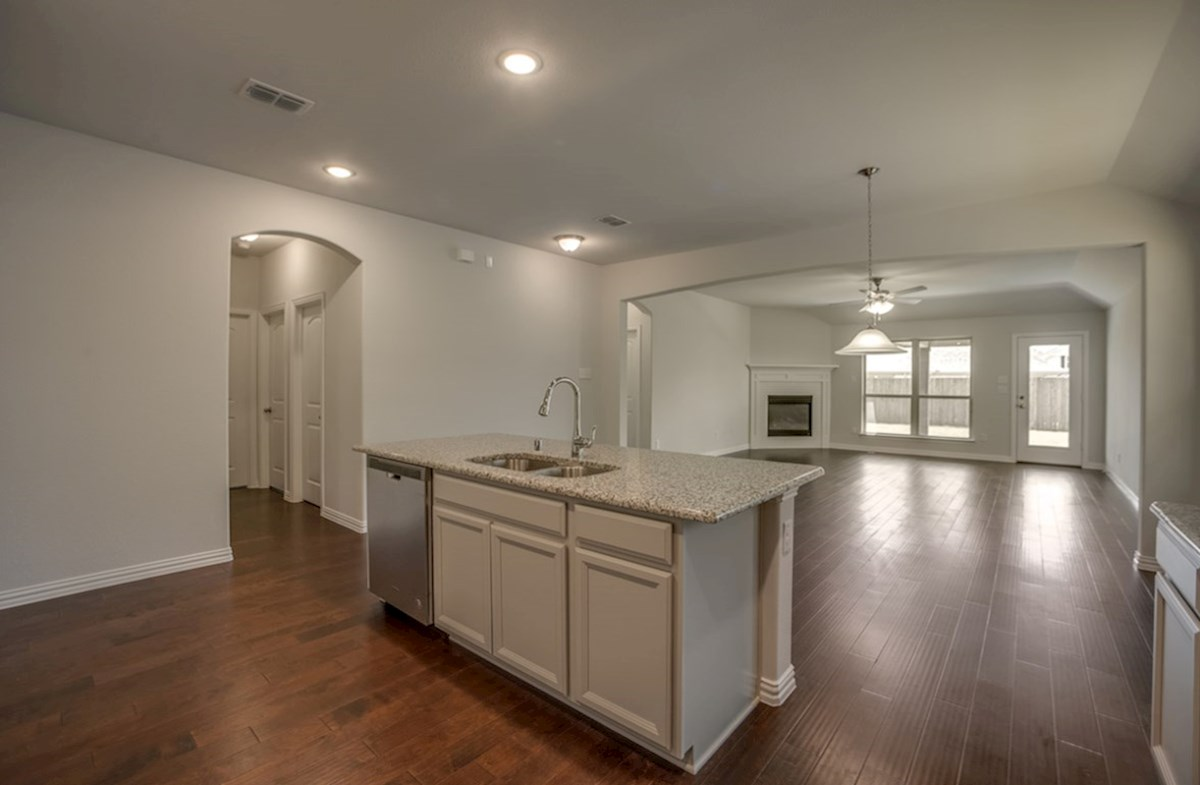 Silverado quick move-in kitchen opens to great room