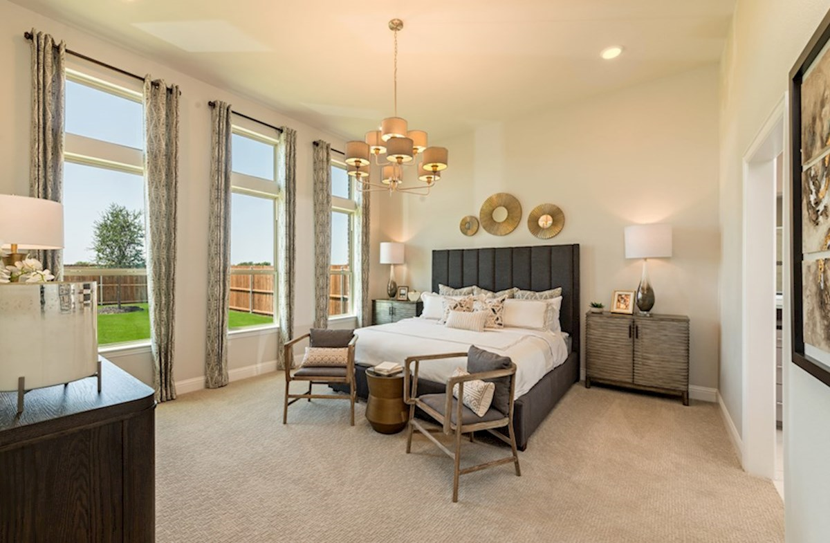Miramonte Albany Albany master bedroom boasts natural lighting