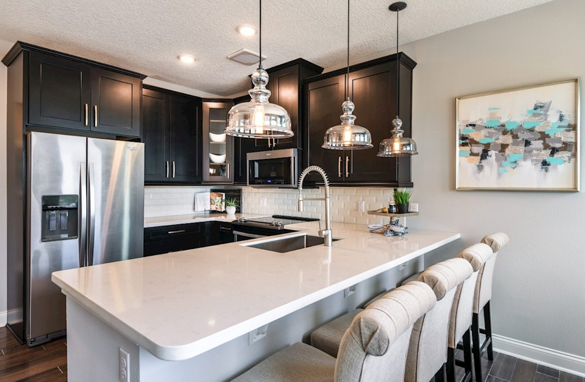 Dogwood quick move-in kitchen with stainless steel appliances