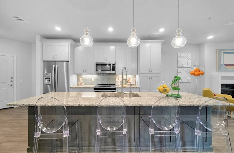 Sherwood kitchen with large island and spacious cabinetry
