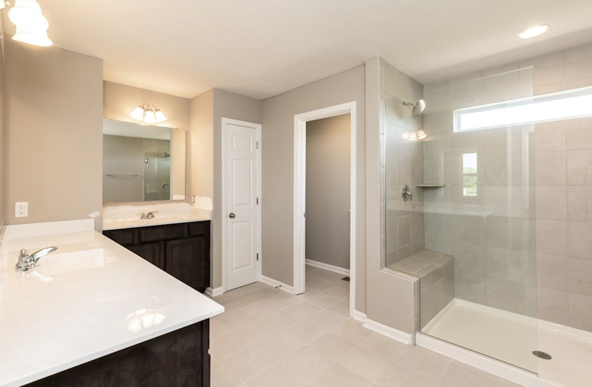 Shelby quick move-in master bath with spa shower