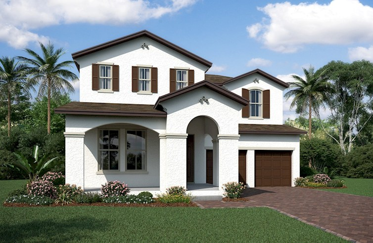 Logan II Elevation Spanish Colonial M
