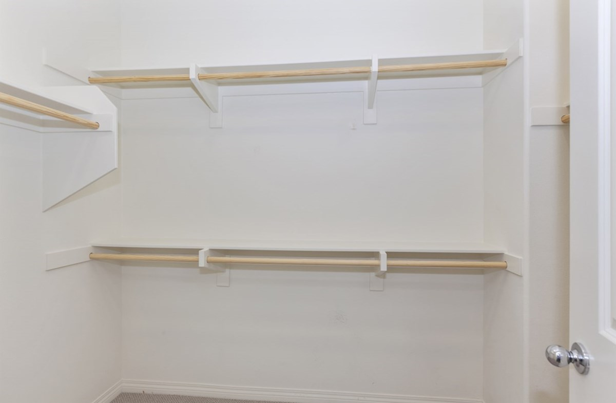 Liberty quick move-in Liberty master bedroom walk-in closet
