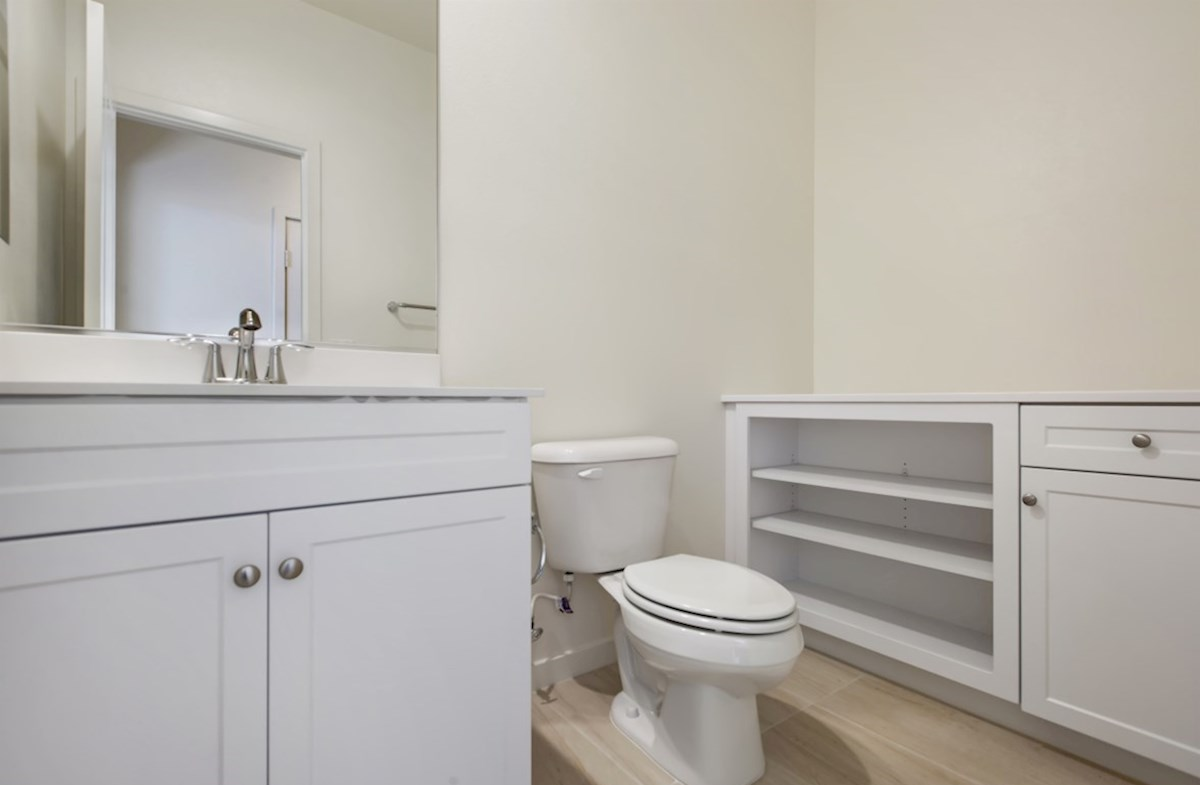Napa quick move-in secondary bathrooms with abundant storage space