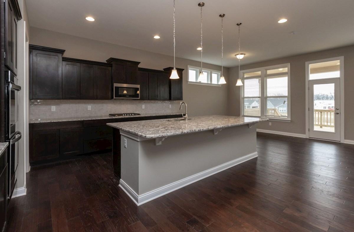 Windsor quick move-in gourmet kitchen with hardwood floors