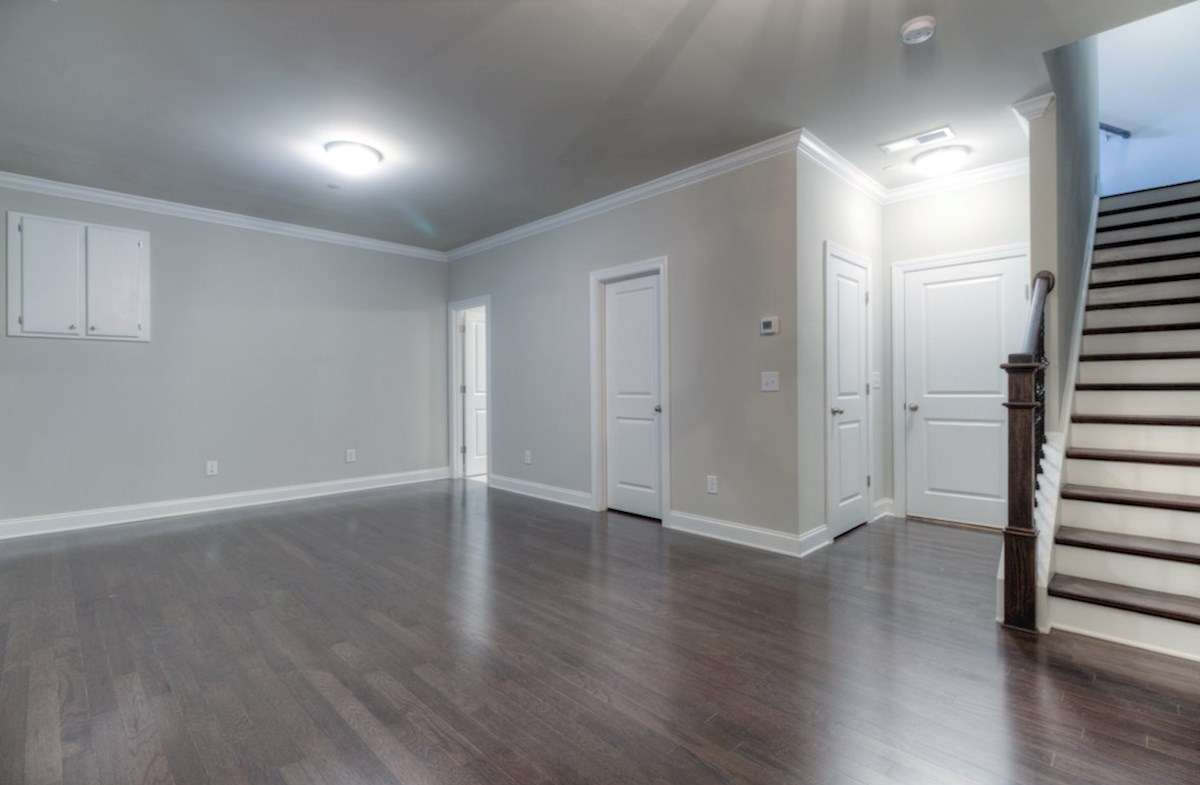 Highland Park Norwich Terrace Level Bonus Room with hardwood floors
