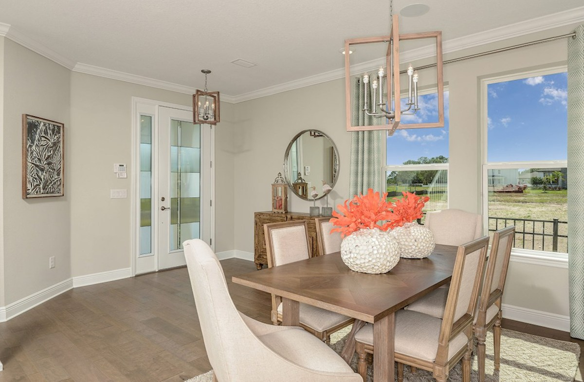 Reserve at Citrus Park Lucia Bay Foyer and dining room with hardwood floors