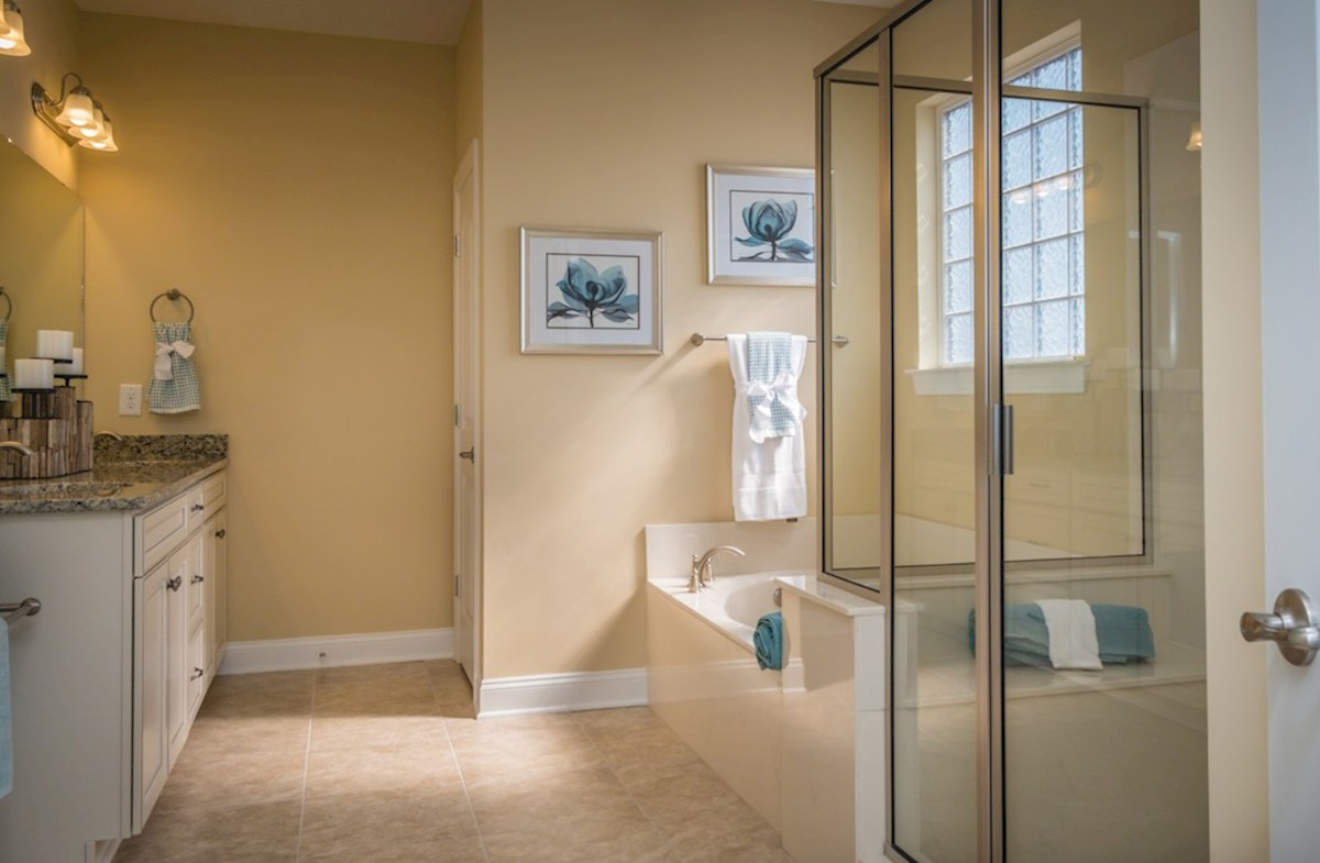 Spring Mill Plantation Savannah bright master bathroom