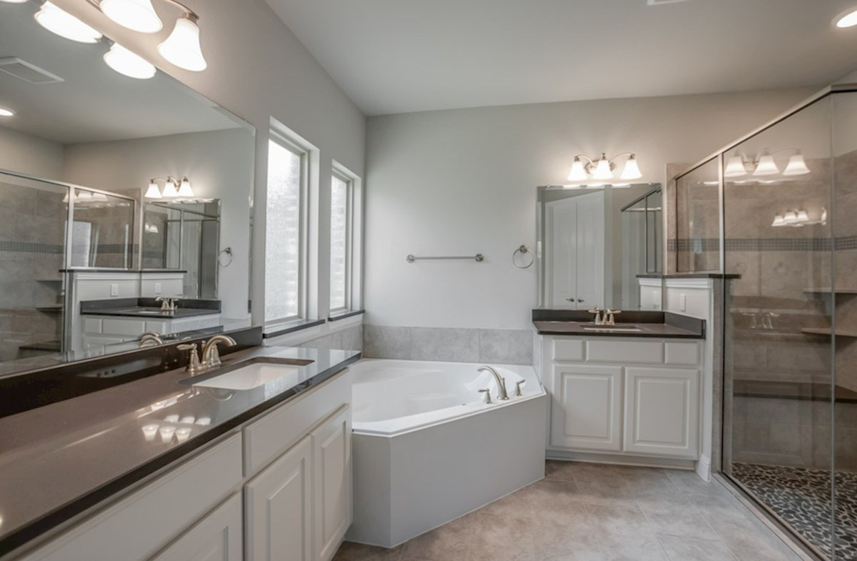 Madison quick move-in Madison master bathroom with large soaking tub