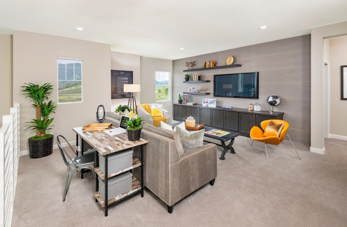 Aurora Heights Torrey The spacious loft is designed to be a versatile space for play or entertainment