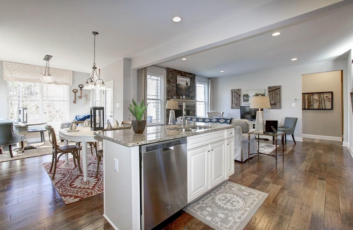 Summerfield Jefferson granite kitchen island