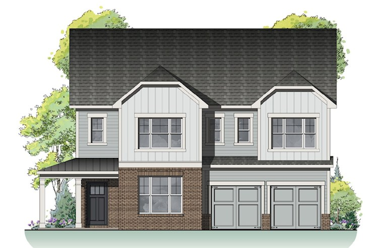 Two-story home front elevation