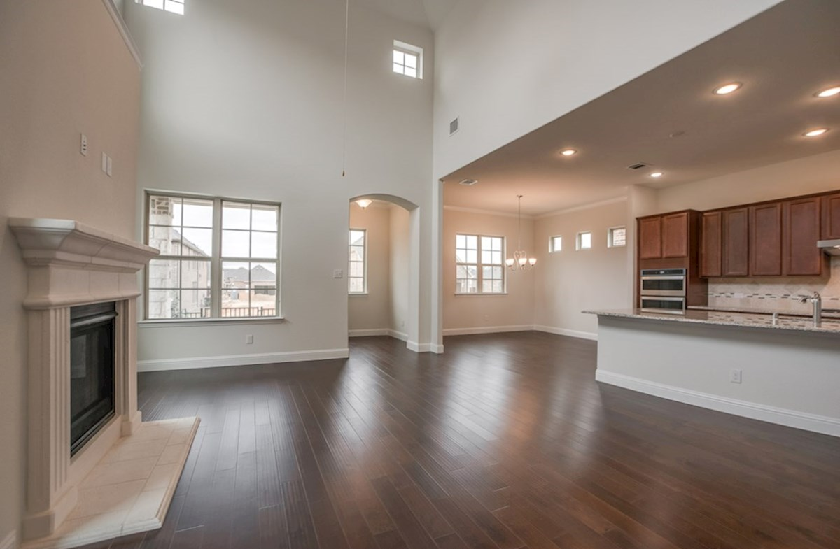Brazos quick move-in open great room with wood floors