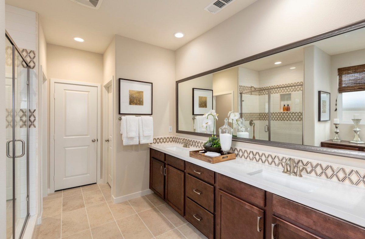 The Glen at Summerly Napa Separate vanities give you more space and privacy