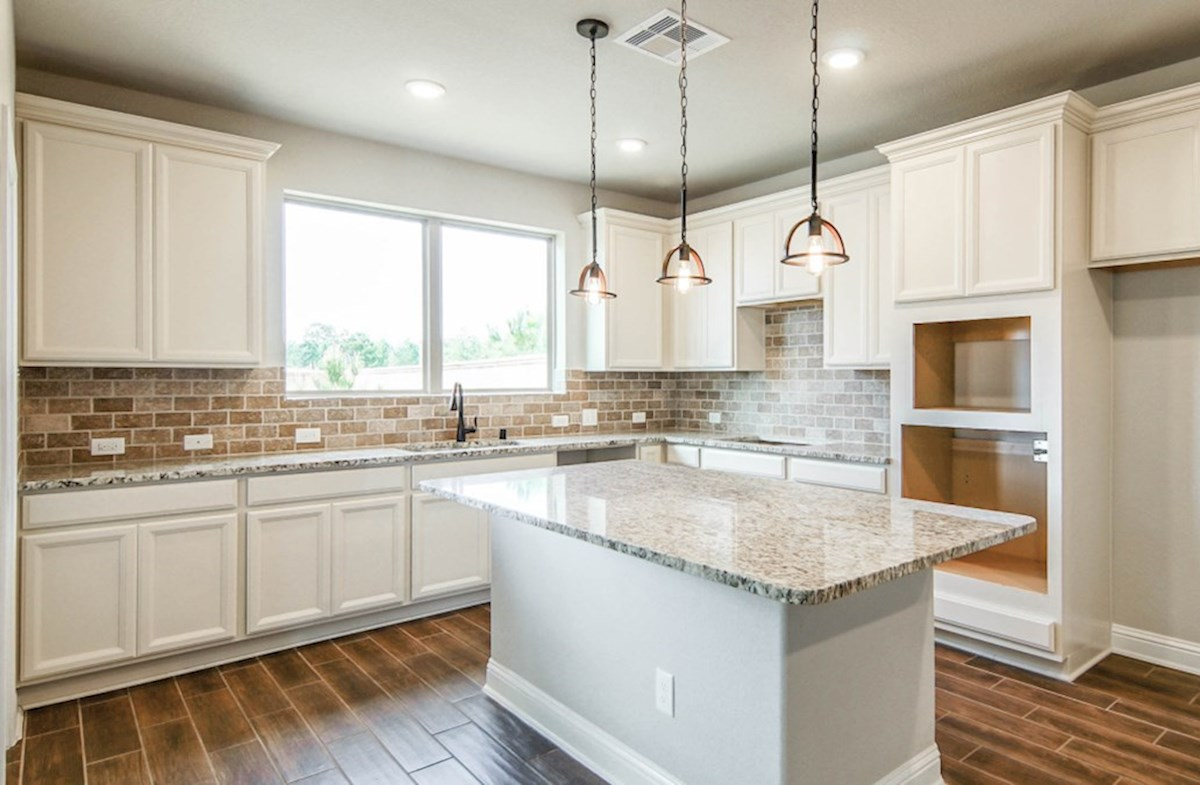 Juniper quick move-in kitchen with large granite island