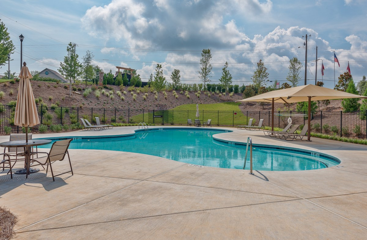 upscale pool and cabana