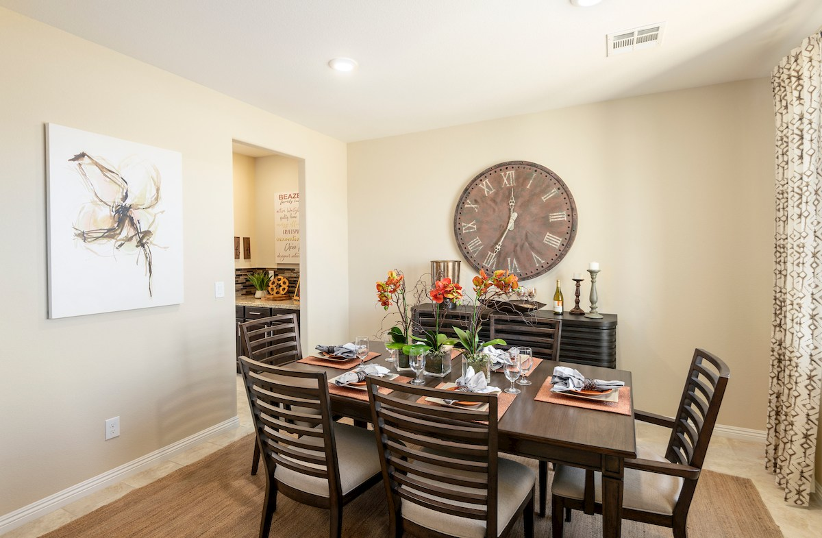 formal dining room in the Verano model