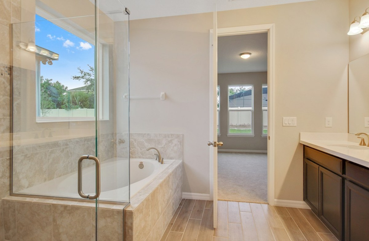Clifton Park Durham spa-inspired master bath