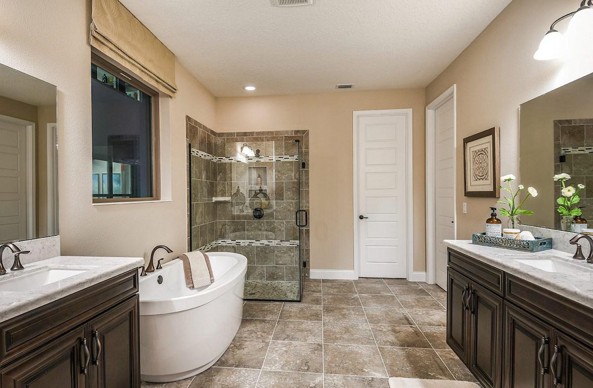 spa-inspired master bath