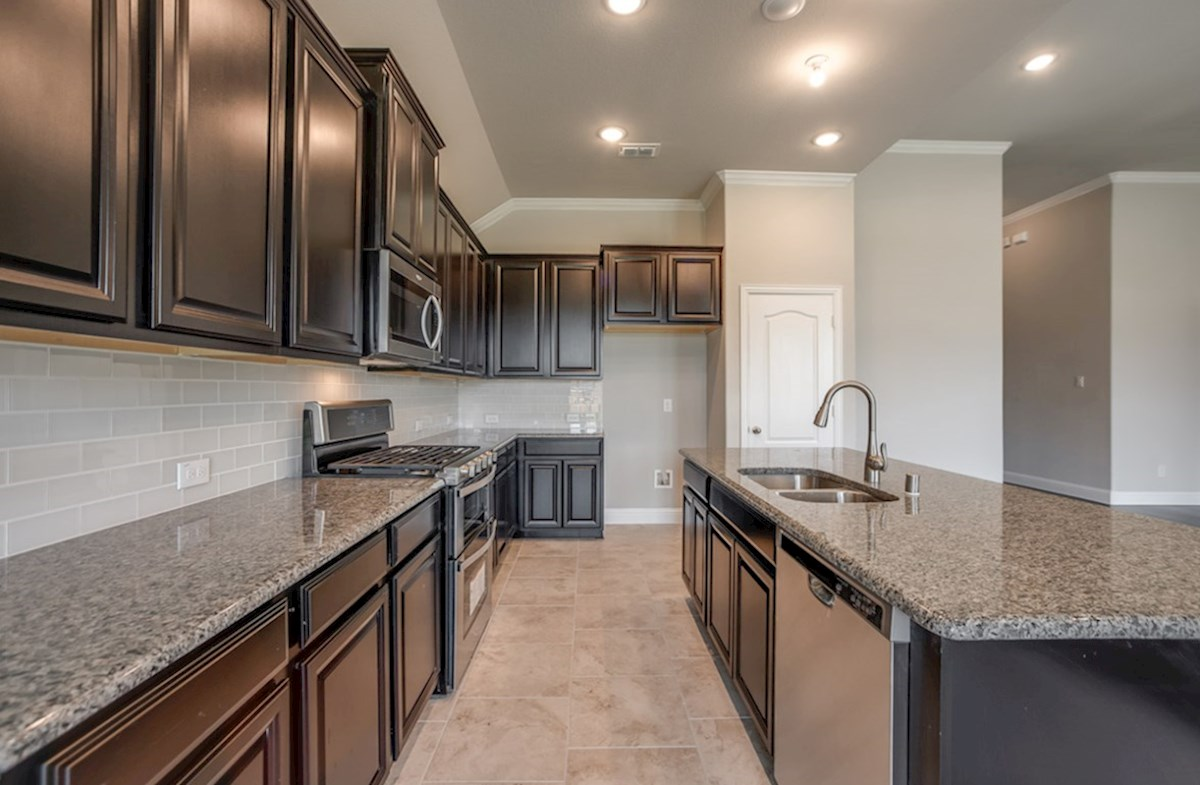 Blakely quick move-in kitchen features granite countertops