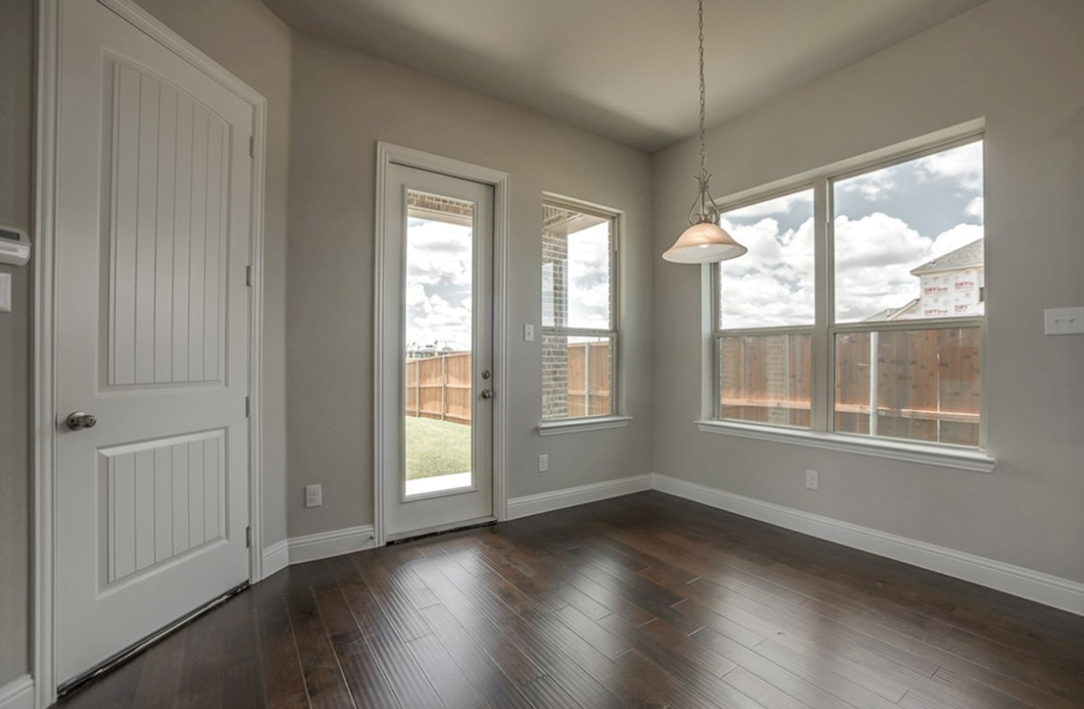Fairfield quick move-in breakfast nook with wood floors and large windows