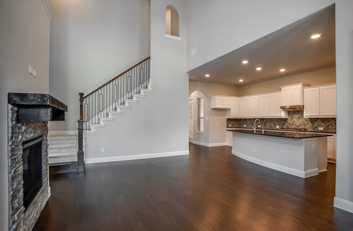 Brazos quick move-in open great room with soaring ceilings