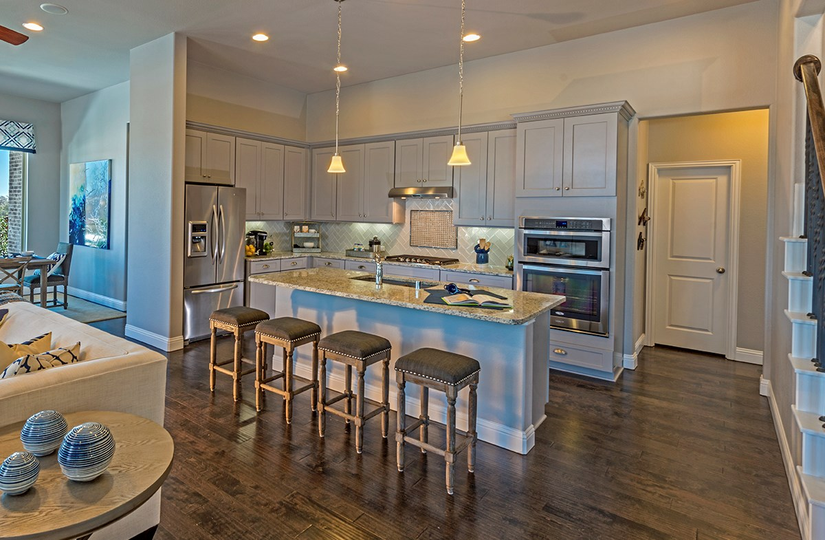 University Place Galveston Galveston kitchen with large island