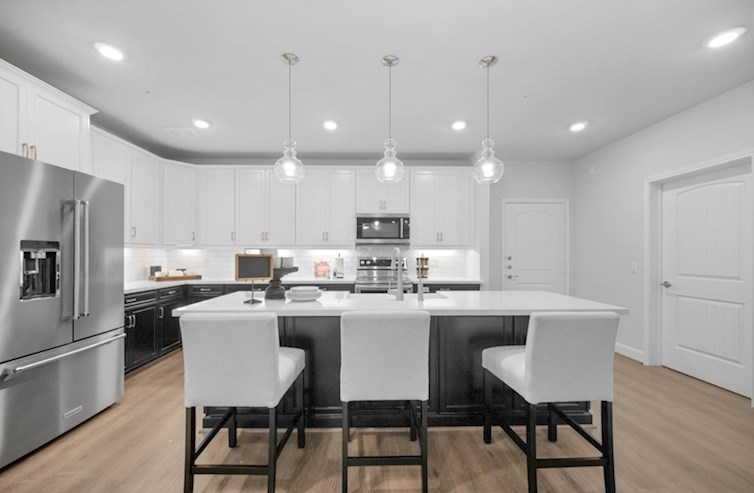 Dorset kitchen with large island and spacious cabinetry