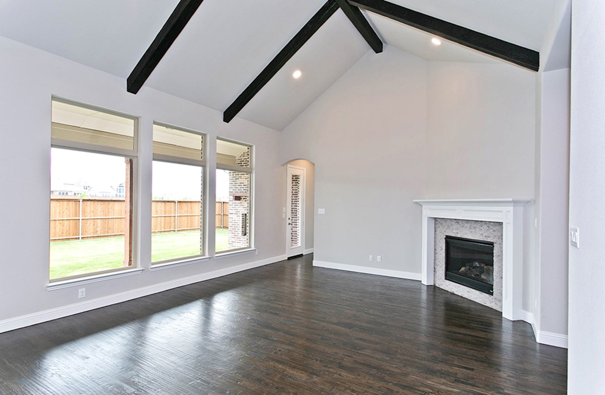 Orleans quick move-in great room with soaring ceilings
