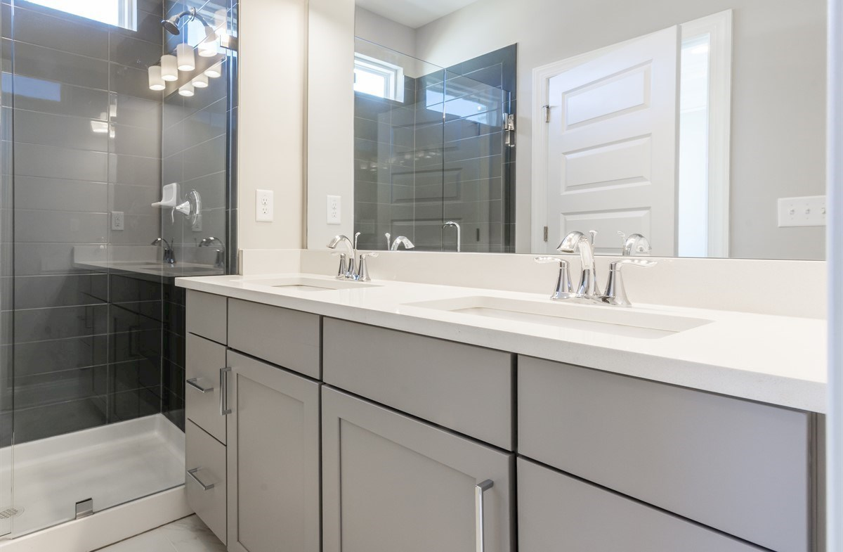 Morningside Towns Piedmont II Master Bathroom with dual sinks