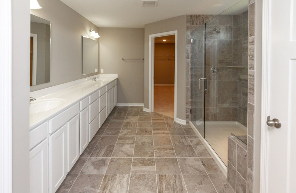 Whitley quick move-in Master bath with spacious spa shower