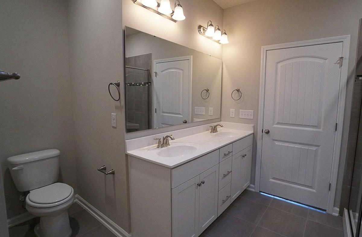 Wisteria quick move-in double vanities in master bathroom