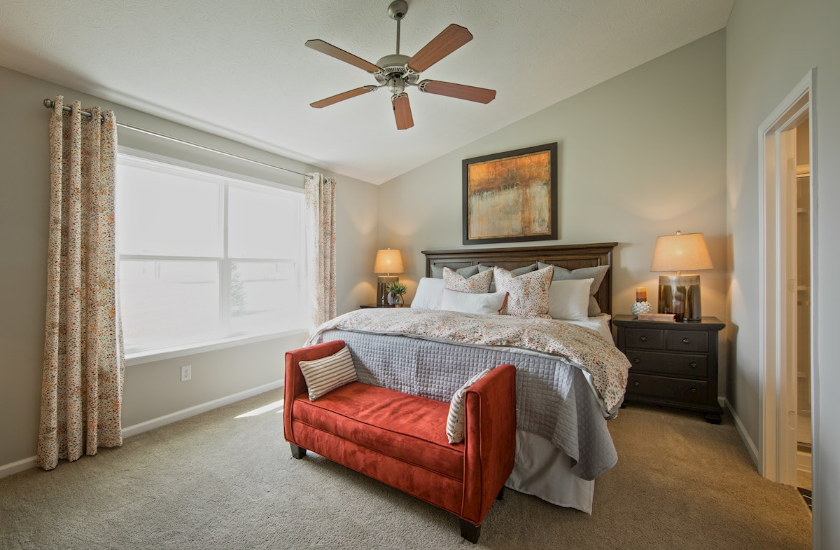 Heritage Trace Dover master bedroom with plenty of natural light