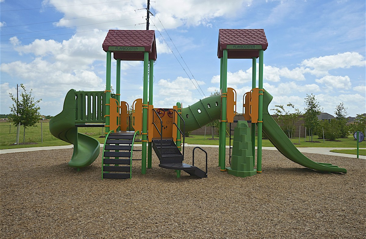 Fun playground with slides and tunnels