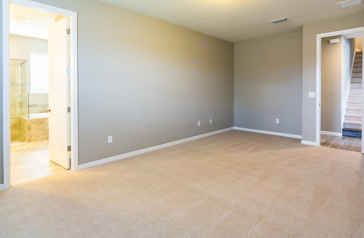 St. Augustine III quick move-in Master bedroom offers a spacious layout