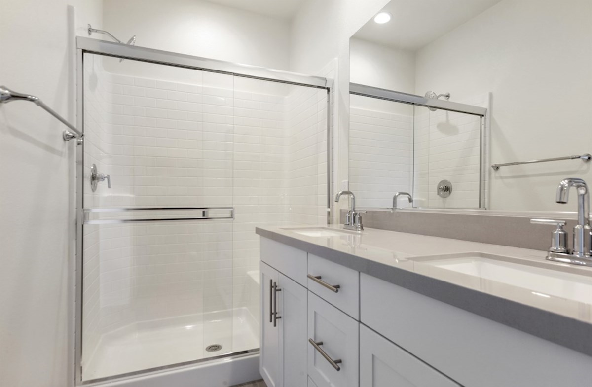 Orchid quick move-in large choice master bath has a sports shower