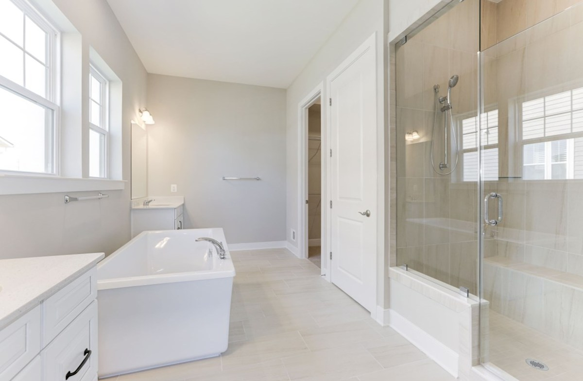 Hadleigh quick move-in spa-inspired bathroom