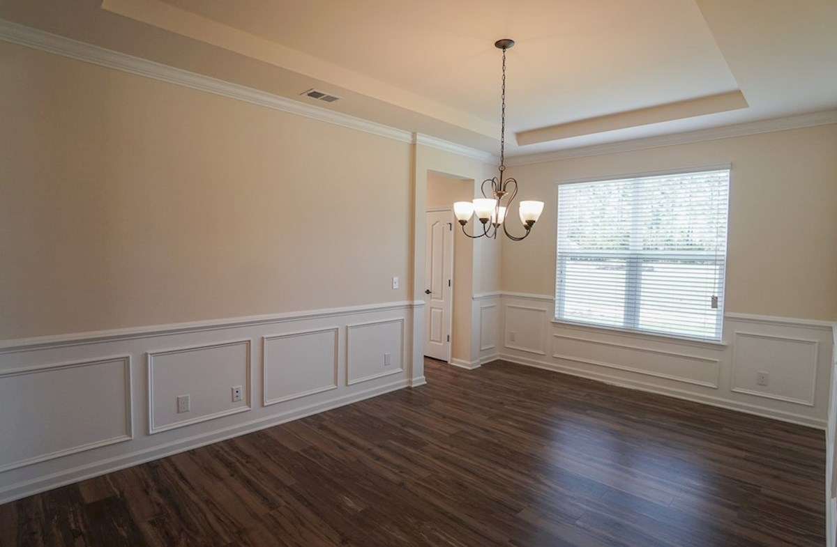 Valleydale quick move-in dining room features chair rail trip