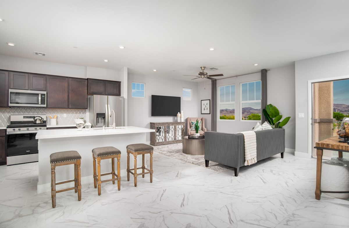 kitchen with spacious granite island