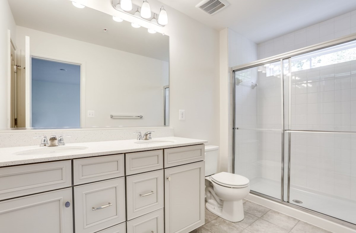 Potomac quick move-in Potomac master bath with dual vanities