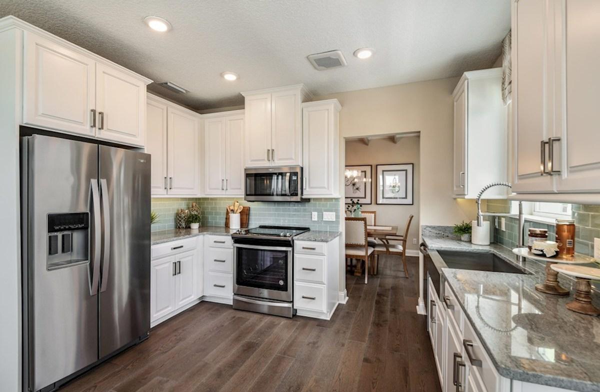 Gatherings® of Lake Nona Chestnut chef-inspired kitchen