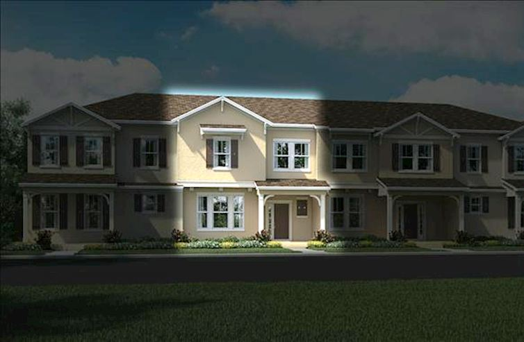 Augusta Home Plan In Summerlake Townhomes, Winter Garden, Fl