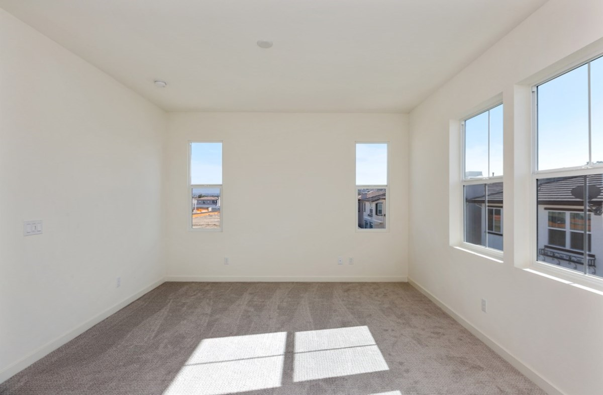 Suncup quick move-in Master bedroom located in the back of home for best exterior views and natural light