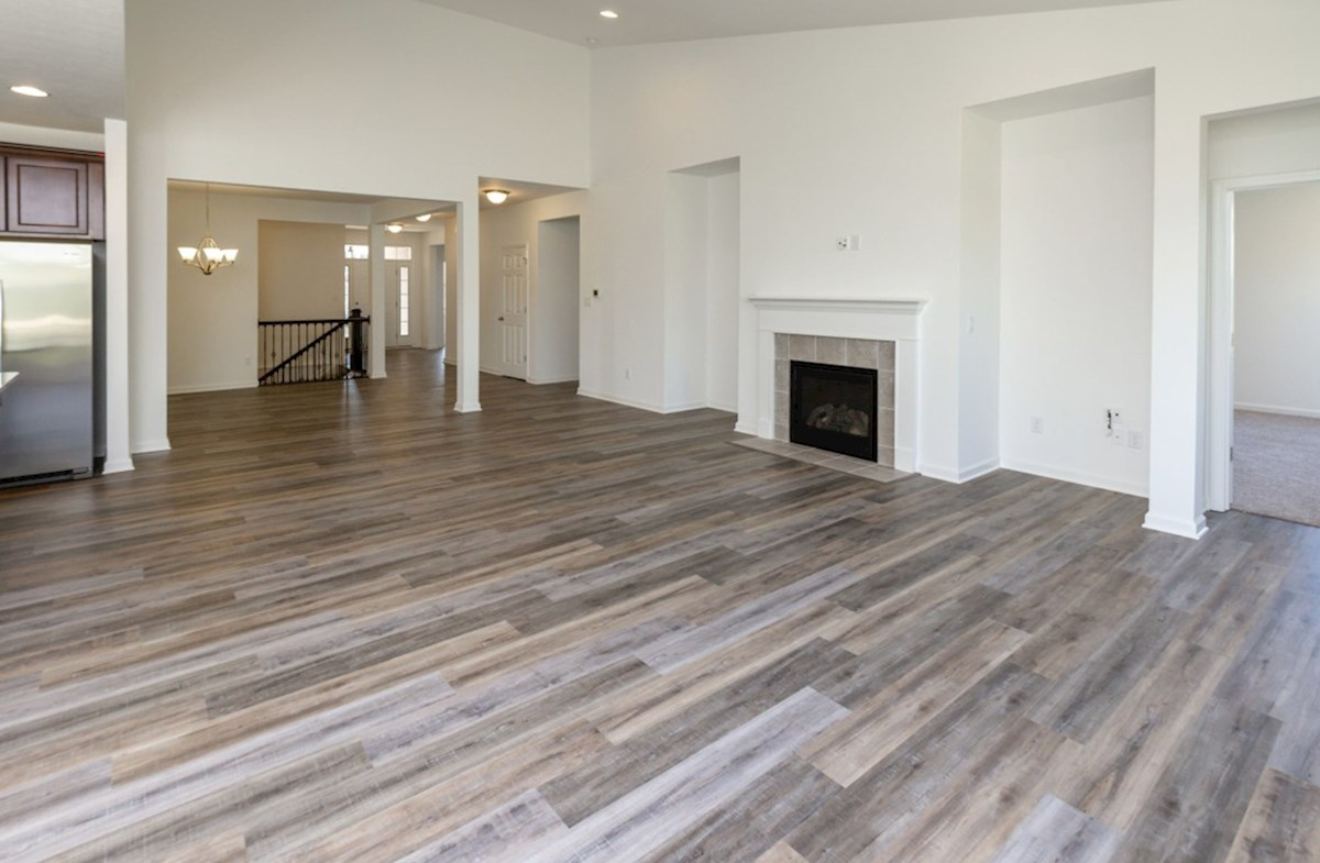 Greenwich quick move-in Great room with beautiful hardwood floors