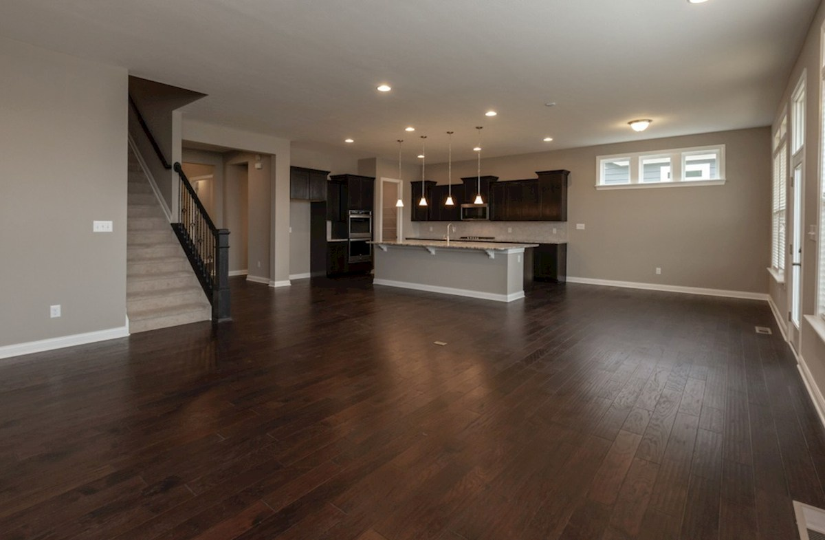 Windsor quick move-in open great room with hardwood floors