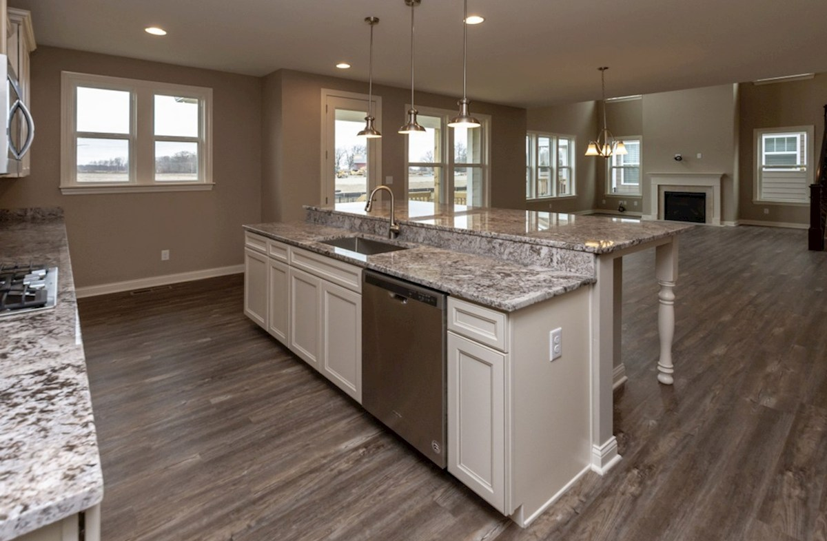 Oakhill quick move-in open kitchen with large island and breakfast bar