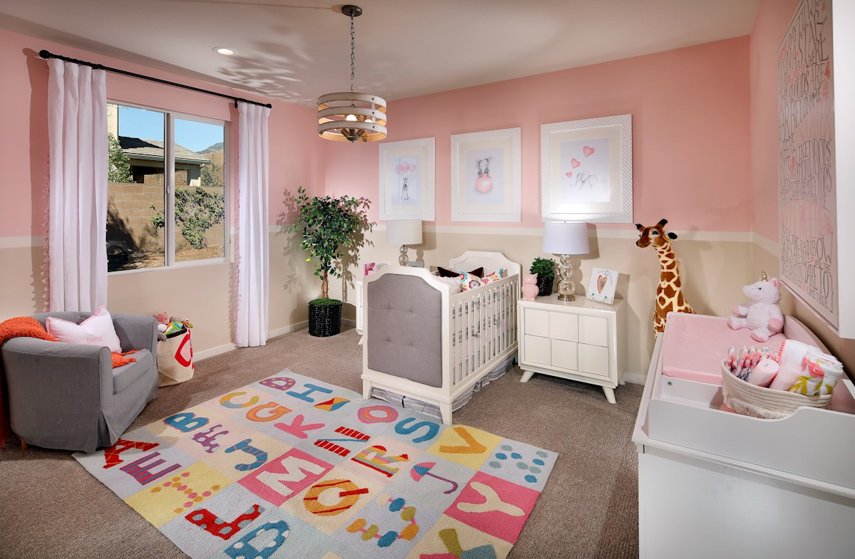 Secondary bedroom turned into a nursery room