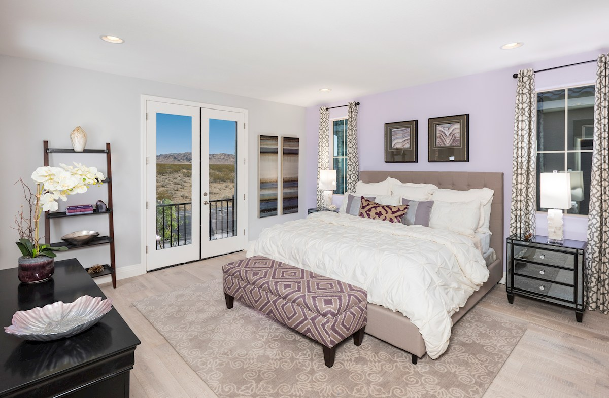 Reliance Collection at Inspirada Tiburon Master Suite with Walk-Out Deck