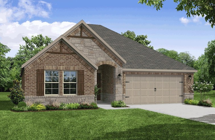 Magnolia Elevation French Country A